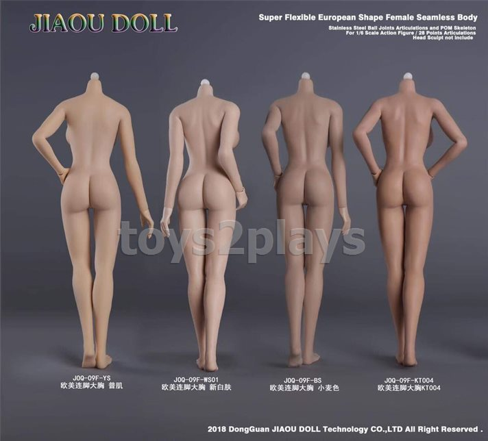 1//6 Female Seamless Body Big Bust Sculpt for 12 Inch Action Figure Body