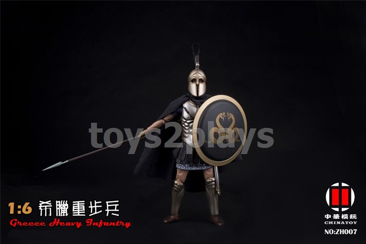 """China Toys ZH007 1//6 Scale Greece Heavy Armor Infantry 12/"""" Figure Shield Model"""